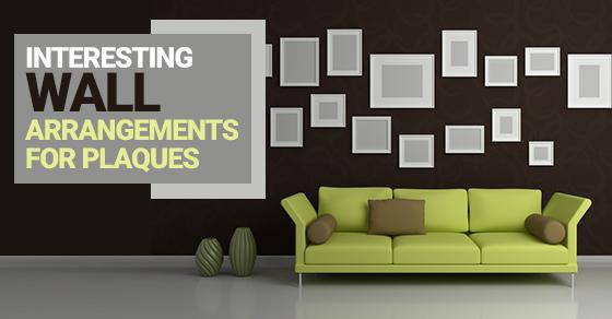Interesting Wall Arrangements For Plaques